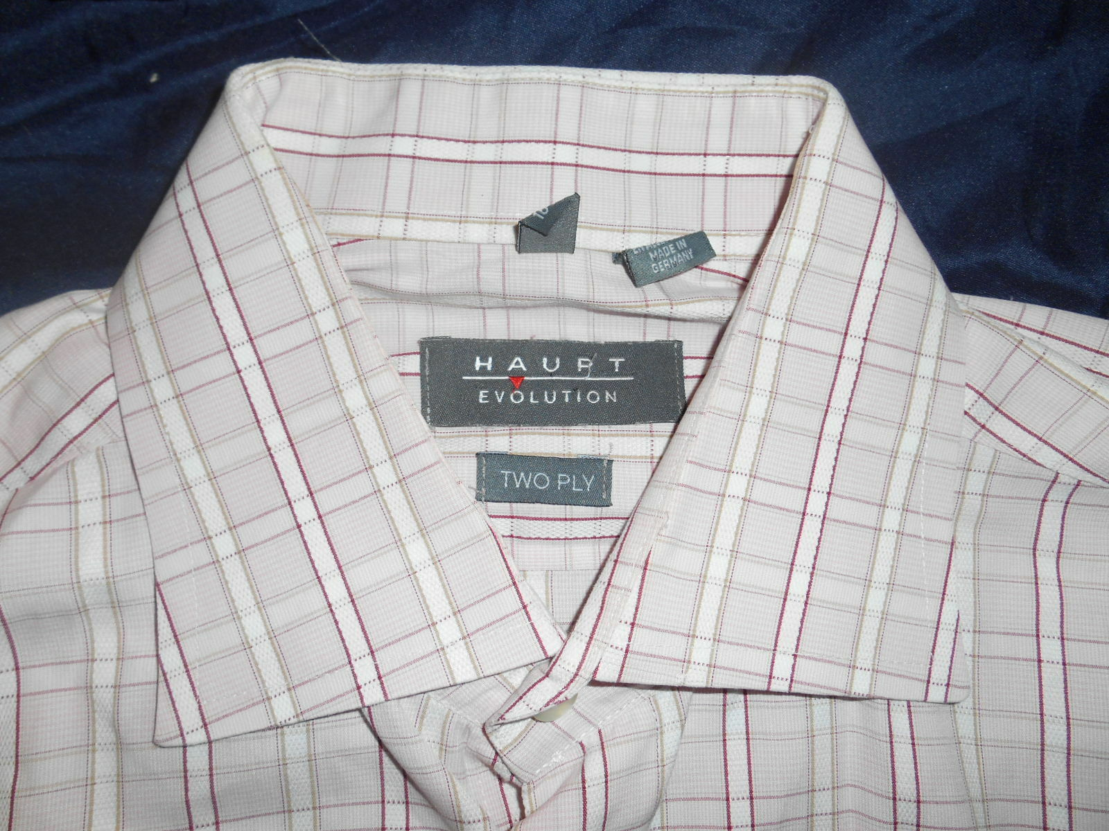 HAUPT EVOLUTION LONG SLEEVE DRESS SHIRT FRENCH CUFFS SIZE 16.5 34  GERMANY SUPER