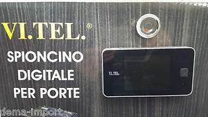 SPIONCINO-VISORE-DIGITALE-VI-TEL-372-PORTE-BLINDATE-SCHERMO-LCD-CROMO-BICOLORE
