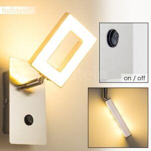 LED Flur Dielen Lampe Design Wand Leuchte Schalter Wohn Schlaf Zimmer Strahler