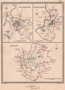 Gloucestershire Villes. Gloucester Tewkesbury Stroud. Creighton/walker 1835 Carte-e Towns. Gloucester Tewkesbury Stroud. Creighton/walker 1835 Map Fr-fr Afficher Le Titre D'origine Vente D'éTé SpéCiale