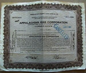 Temporary-stock-certificate-Appalachian-Gas-Corporation-1930