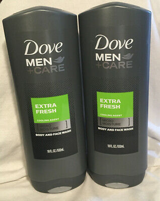 Dove Men Care Extra Fresh Cooling Agent Body And Face Wash 18 Oz 2 Pack Ebay