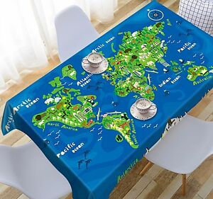 3d world map 458 tablecloth table cover cloth birthday party event image is loading 3d world map 458 tablecloth table cover cloth gumiabroncs Choice Image