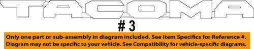 TOYOTA OEM 16-18 Tacoma Front Door-Emblem Badge Nameplate Right 7542704030