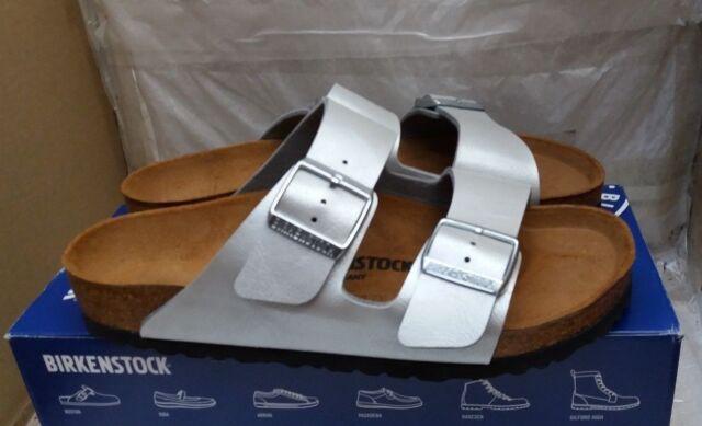 c73796329efee0 Birkenstock Arizona BS Regular Fit Buckle Sandals - Graceful Silver - UK  5 EU 38