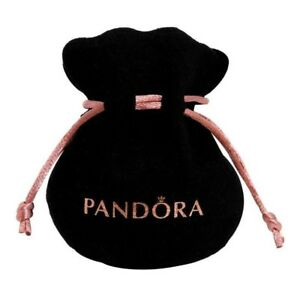 NEW PANDORA Black Velvet felt jewellery Pouch Charms Rings earrings gift bag