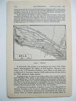 Gela Sicilia Cartina.Stampa Antica Mappa Sicilia Pianta Di Gela 1940 Ebay