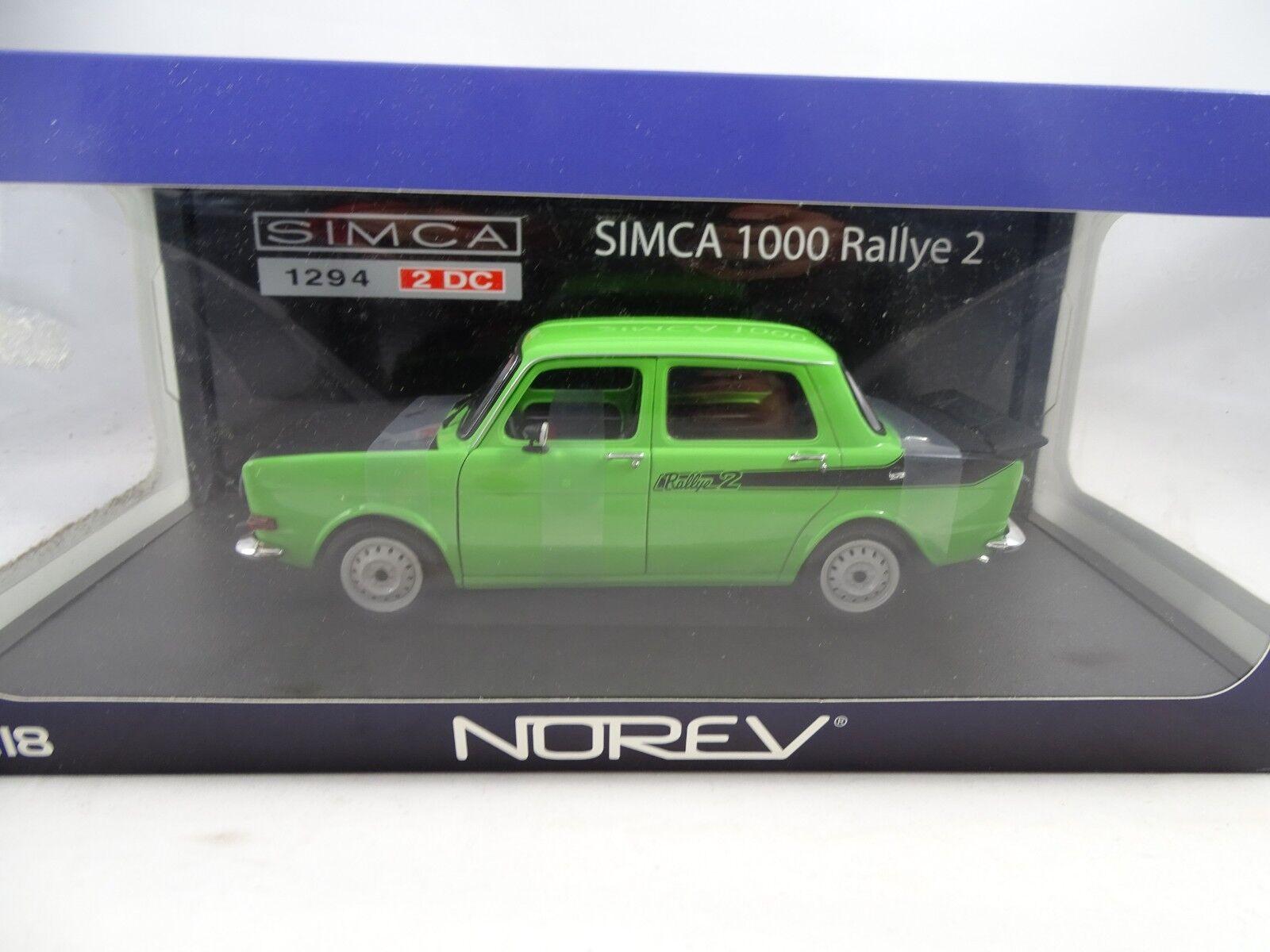 Norev 185704 Simca 1294 2 Dc 1000 Rally 2 Verde - Rareza