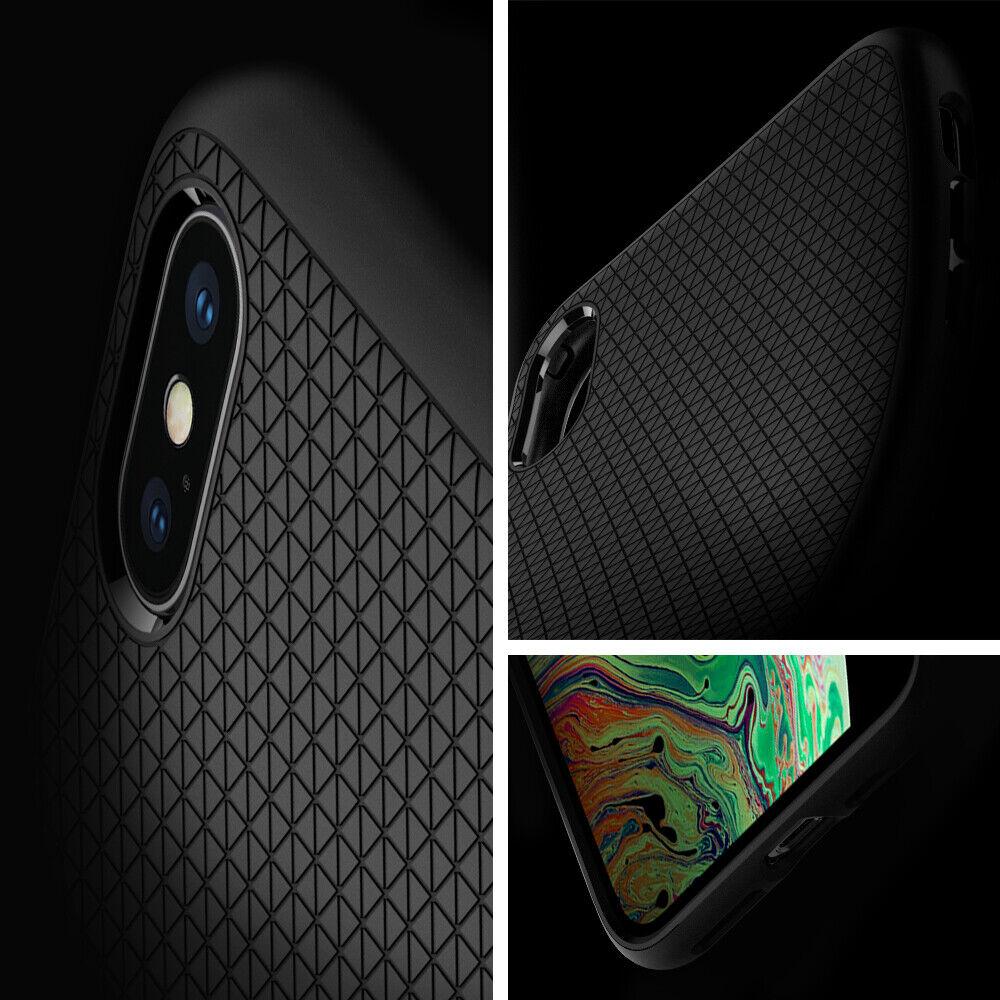 iPhone XXS, XS Max, XR Case Spigen® [Liquid Air] Ultra Slim Protective Cover