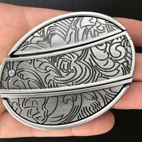 Plain 3d Belt Buckle REMOVABLE Western Cowboy SILVER HIGH QUALITY