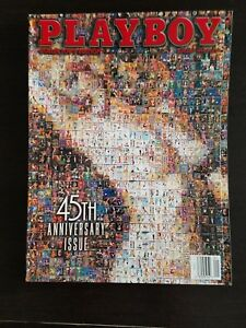 Vintage-45th-Anniversary-Collector-039-s-Edition-issue-of-Playboy-VG-NM-Condition