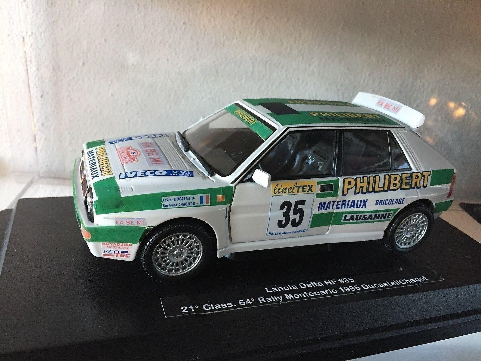 Lancia Delta HF ° Rally Montecarlo 1996 Ducastel - DIE CAST 1 24