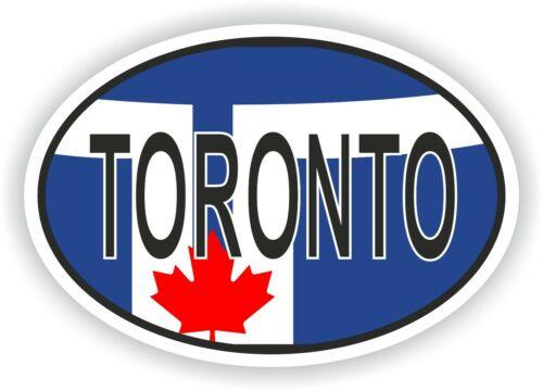 TORONTO Oval Flag Vinyl Sticker High resolution Quality Waterproof