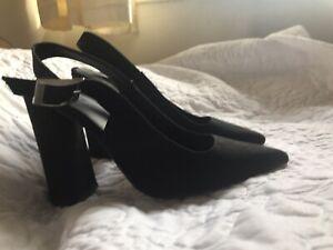 ASOS Black Slingbacks Size 5