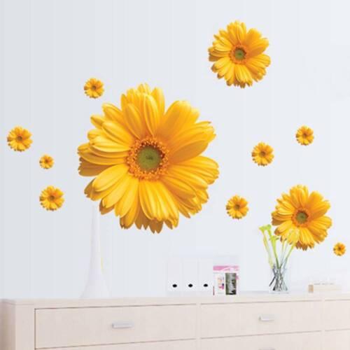Daisy Flower Living Room PVC Wall Sticker Decal Window Bedroom Decor DIY