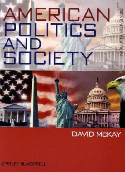 American Politics and Society,David McKay- 9781405126038