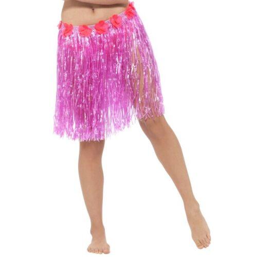 Donna Hawaiano Hula Gonna /& Fiori Estate Costume Hen Night tema BBQ Divertente