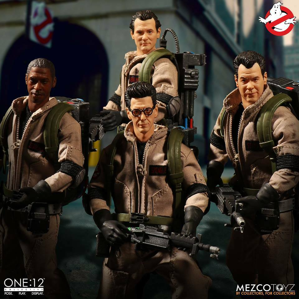 Ghostbusters Mezco Toyz One 12 colectivo Deluxe Tin Box Figura Set