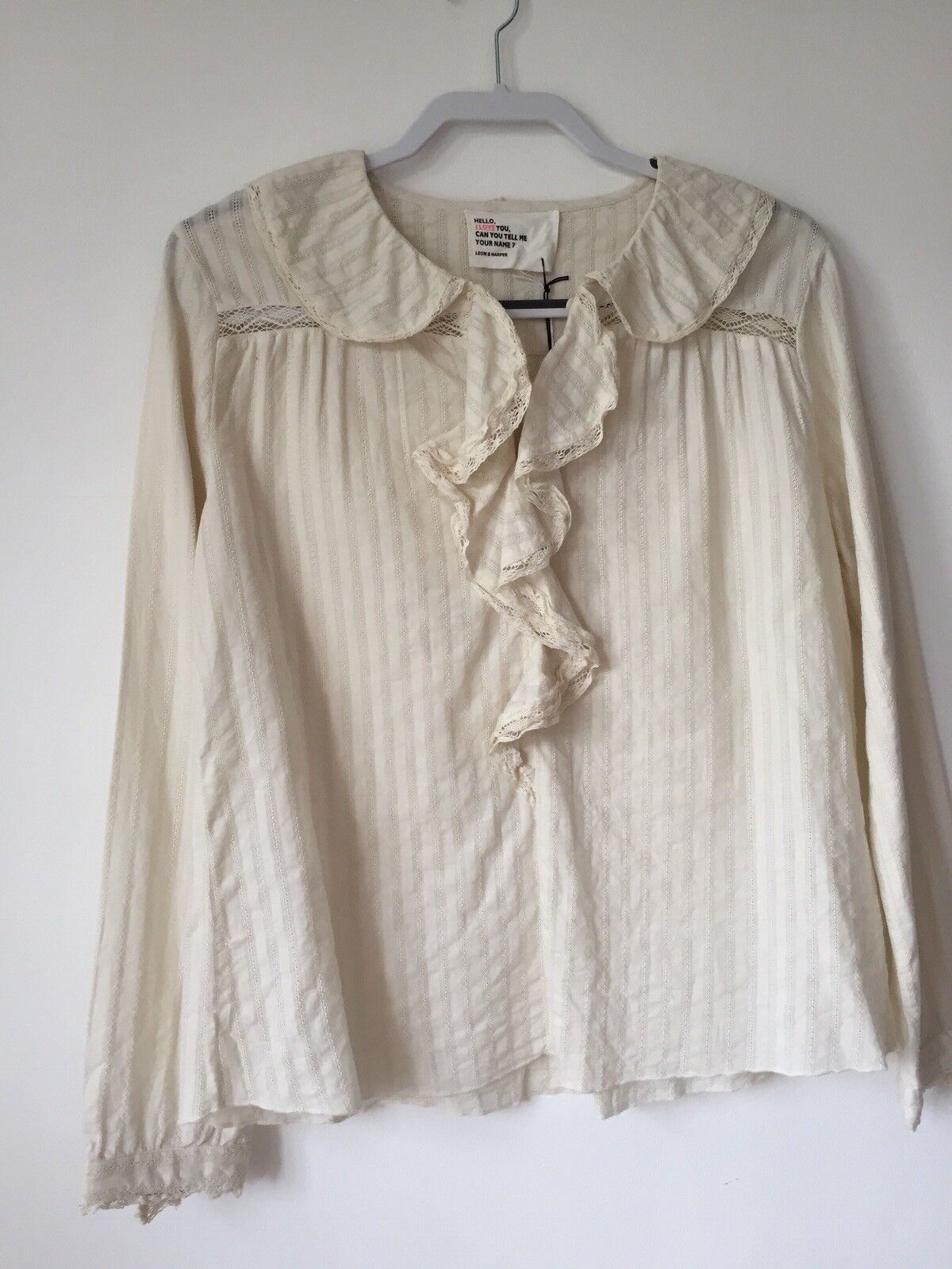 Leon &Harper Lace Ruffled Shirt