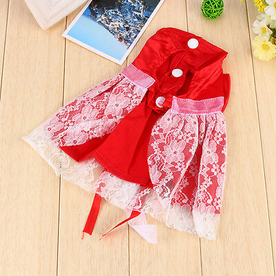 Pet Small Puppy Dog Tutu Dress Lace Skirt Cat Princess Dress Clothes Apparel BT