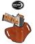 "Details about  /1911 4/"" Barrel Laser Grips NO Rail OWB Shield Holster R//H Brown"