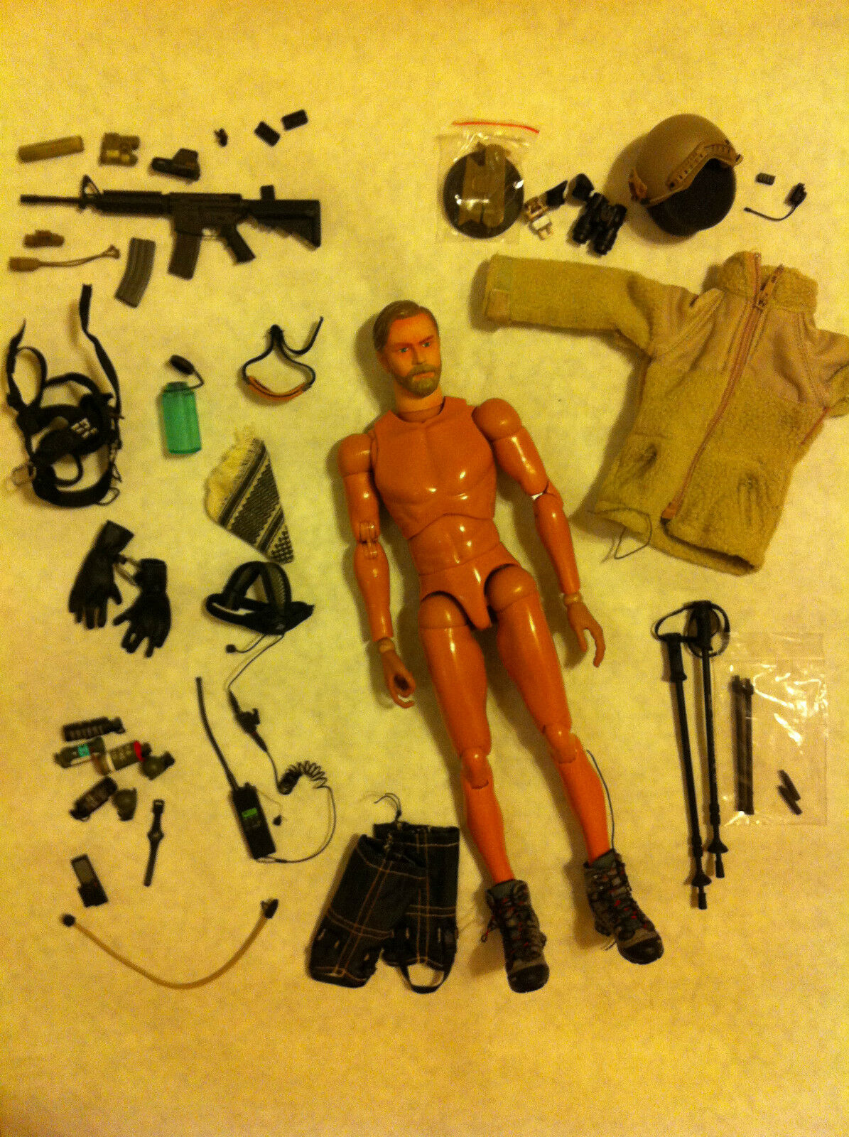 1 6 Hot TOYS Mountain Head Body Boots Rifle LOT NEW