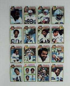 1979 Topps Dallas Cowboys Lot 16 Jones Hill Pearson Dorsett White Pearson MINT