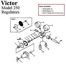 Victor 250 80 540 Oxygen Regulator Rebuildrepair Parts Kit
