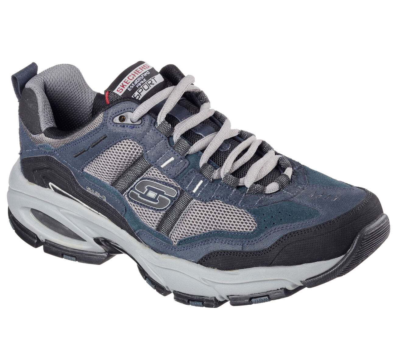 Skechers Shoes Men's Wide Width Navy