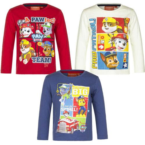 Top Shirt langarm Mädchen Jungen Pullover Paw Patrol rot blau beige 98-116 #97