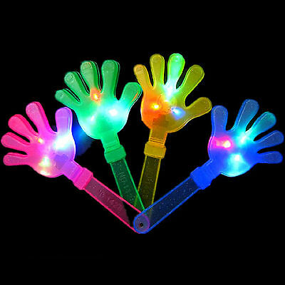 4X New Hand LED Flashing Light Clapper Toy Clacker Revelry Party Sports Fun