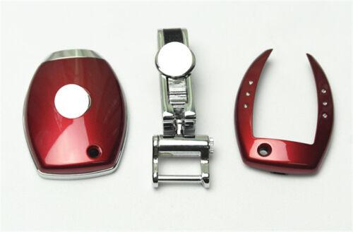 1pcs Red ABS Plastic Remote Key Cover Case Shell For CLA E C S ML GLA GLC Class