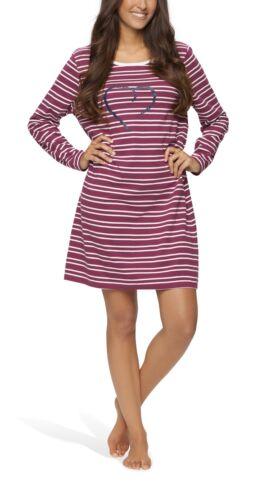4XL Damen Nachthemd kurz Sleepshirt Nachtkleid aus 100/% Baumwolle von S