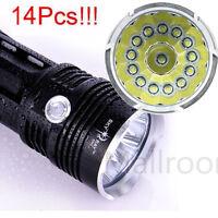 34000LM CREE XM-L 14x T6 LED Taschenlampe Flashlight Handlampe Torch 4x 18650