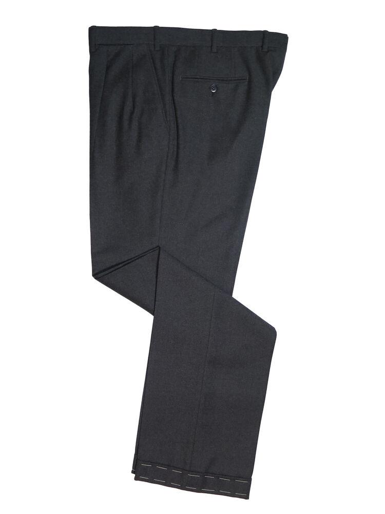 Suivi Des Vols Brioni Italie Homme Gamma Gris Anthracite 100% Laine Robe Pantalon Pli Avant 39 Pour Convenir à La Commodité Des Gens