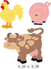 Farm Animals Die Compatible with Bigshot, Sizzix  New Free Shipping USA Seller