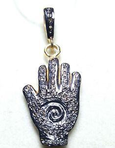 9-25-Silver-Charms-Pendant-Pave-Diamond-Pendant-Finish-Finger-Shape-Pendant