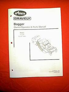 ariens gravely zero turn 42 quot  mower bagger model 815008 owners with parts manual ebay