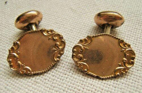 Edwardian clover cuff links a bit distressed antique