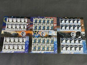 2008 Malaysia astronaut angkasawan space rocket 3 full stamp sheets MNH