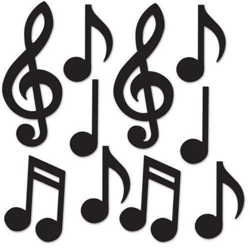 10//Pkg Pack of 24, Mini Musical Notes Silhouettes