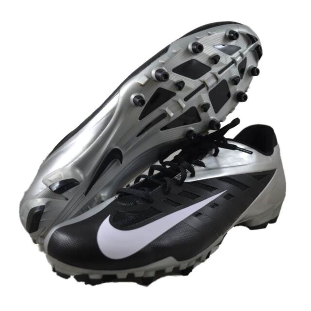 Men s Nike Vapor Pro Low TD Football Cleats - Black White Silver - NIB 6fd6f05f36