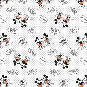 Disney Fabric Mickey Minnie Mouse Nice Not The Same As Wimpy