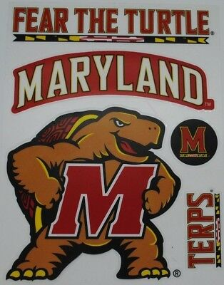 2 MARYLAND UNIVERSITY TERRAPINS STICKER Decal Bogo For Car Bumper Free Shipping