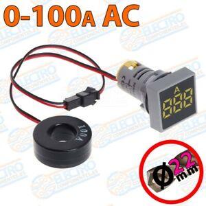 Amperimetro-Digital-Panel-0-100A-22mm-pinza-no-invasivo-LED-AMARILLO-Arduino-E