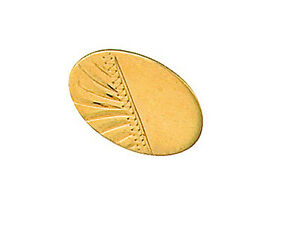 9ct-Yellow-Gold-Half-Engraved-Stick-Pin-Made-To-Order-in-Jewellery-Quarter-B-039-ham