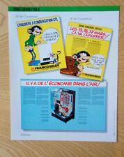 Publicité Gaston Lagaffe Franquin Condensation Franco-Belge 1985