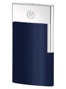 S.T. Dupont Lighter E Slim (Electronic) Electric Blue/Chrome - 027008E