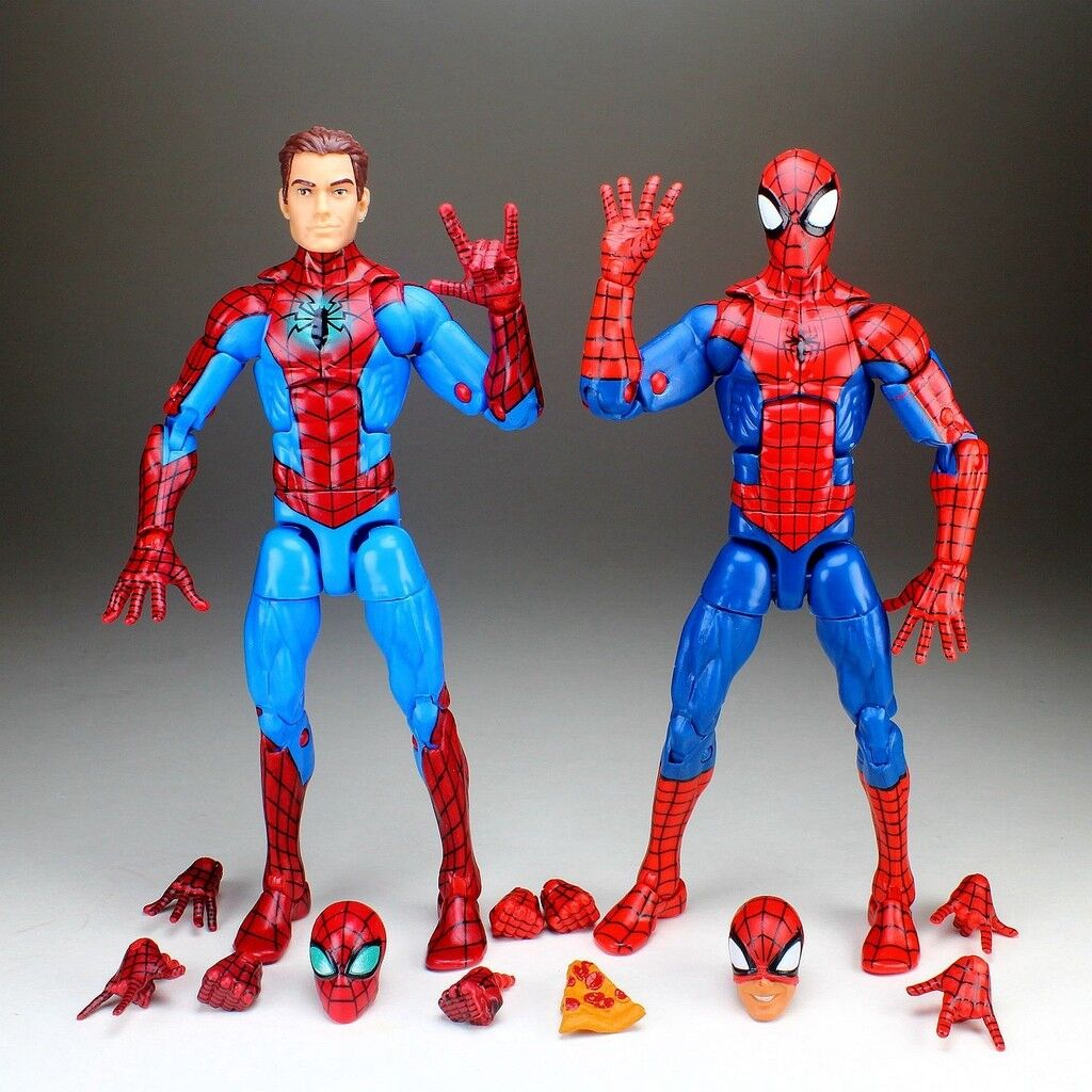 Marvel Legends Unmasked Homecoming & Pizza Pizza Pizza Spiderman 6  Loose Action Figure 9a978d