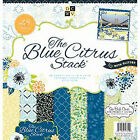 Paper Stacks 12 X 12-inch Diecuts Citrus Hanging Stack Blue